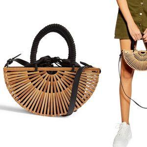 TOPSHOP Crete wooden grab bag